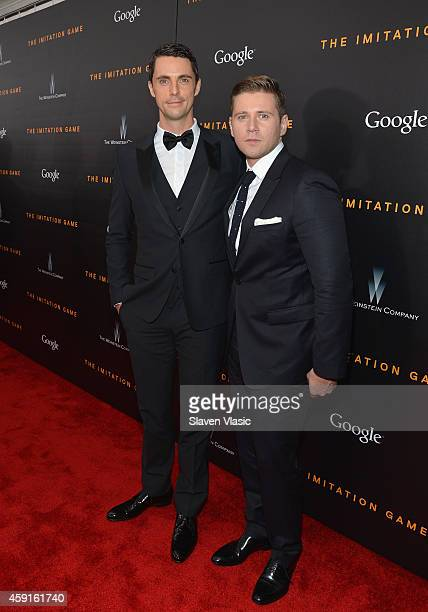 Actors Matthew Goode and Allen Leech attends the 'The Imitation Game' New York Premiere at Ziegfeld Theater hosted by Weinstein Company on on...