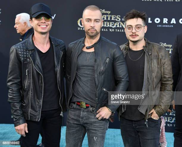 Actors Matthew Lawrence Joey Lawrence and Andrew Lawrence arrives at the Premiere Of Disney's 'Pirates Of The Caribbean Dead Men Tell No Tales' at...