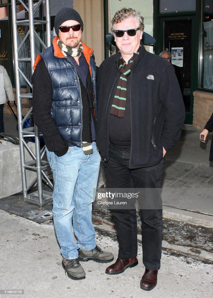 Actors Matthew Lillard and Christopher McDonald seen around town on January 18 2009 in Park City Utah