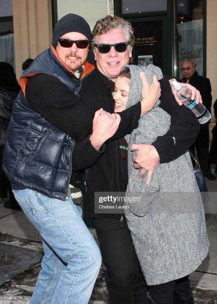 Actors Matthew Lillard Christopher McDonald and guest seen around town on January 18 2009 in Park City Utah