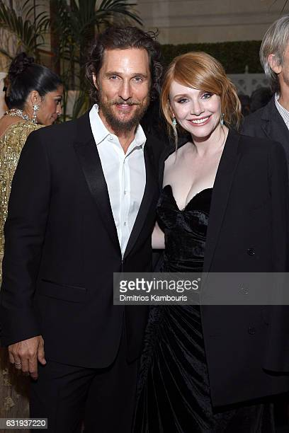 Actors Matthew McConaughey and Bryce Dallas Howard attend the The World Premiere Of 'Gold' After Party hosted by TWC Dimension with Popular Mechanics...