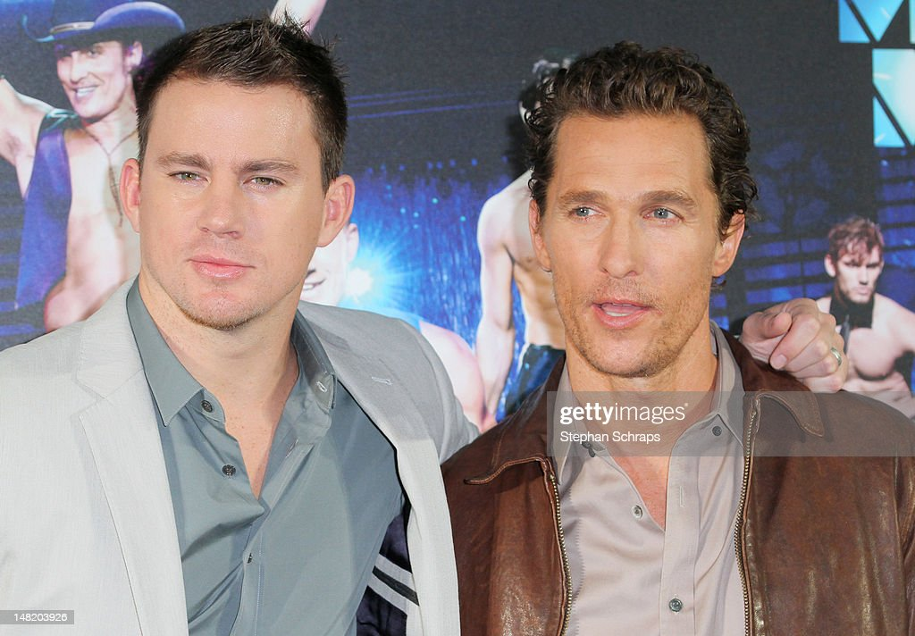 Actors Matthew McConaughey and Channing Tatum attend the 'Magic Mike' photocall at the Hotel De Rome on July 12, 2012 in Berlin, Germany.