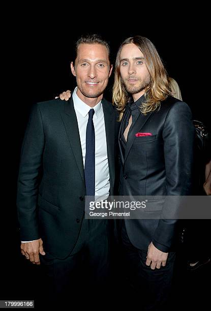 Actors Matthew McConaughey and Jared Leto arrive at the 'Dallas Buyers Club' Premiere during the 2013 Toronto International Film Festival held at...