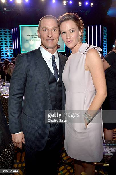 Actors Matthew McConaughey and Jennifer Garner attend the 29th American Cinematheque Award honoring Reese Witherspoon at the Hyatt Regency Century...