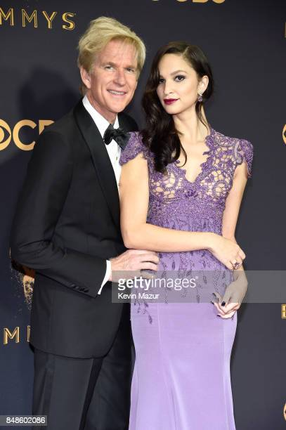 Actors Matthew Modine and Ruby Modine attend the 69th Annual Primetime Emmy Awards at Microsoft Theater on September 17 2017 in Los Angeles California