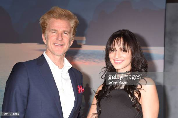 Actors Matthew Modine and Ruby Modine attend the premiere of Warner Bros Pictures' 'Kong Skull Island' at the Dolby Theatre on March 8 2017 in...