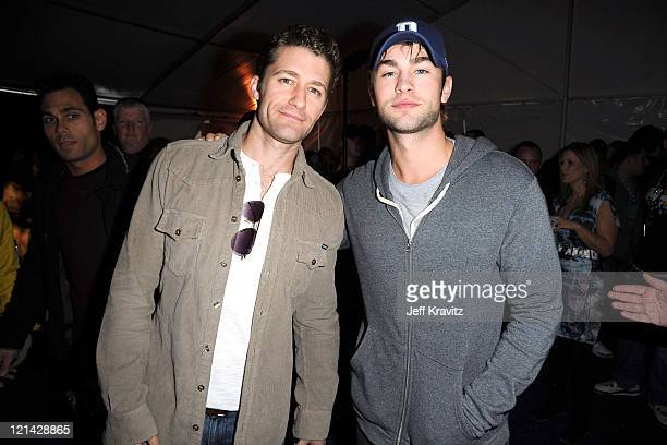 Actors Matthew Morrison and Chace Crawford attend DIRECTV's Fifth Annual Celebrity Beach Bowl at Victory Park on February 5 2011 in Dallas Texas