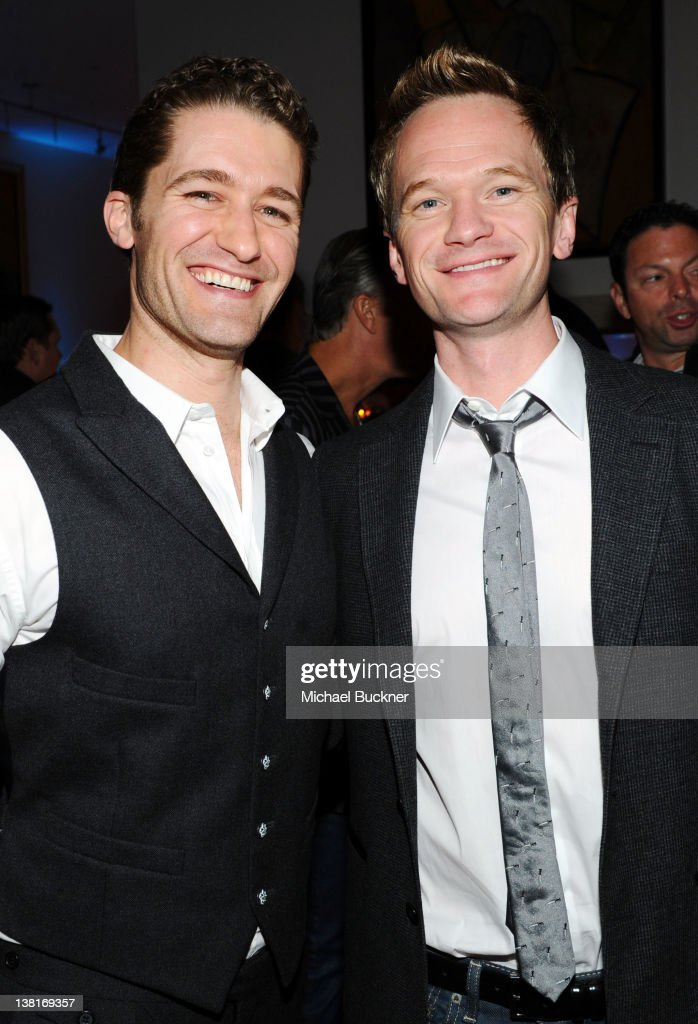 Actors Matthew Morrison and Neil Patrick Harris attend Audi Celebrates Super Bowl 2012 At The Audi Forum Indianapolis at The Penthouse at The Conrad...