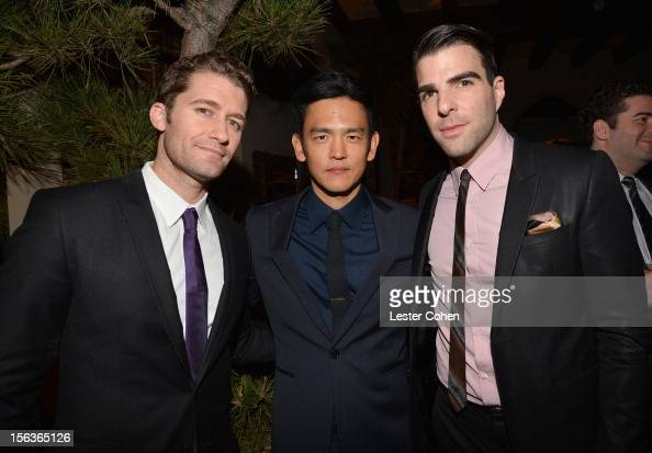 Actors Matthew Morrison John Cho and Zachary Quinto attend the GQ Men of the Year Party at Chateau Marmont on November 13 2012 in Los Angeles...