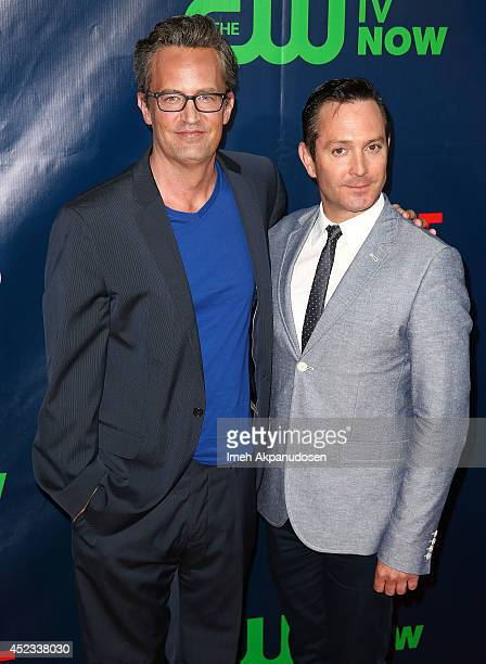 Actors Matthew Perry and Thomas Lennon attend the CBS The CW Showtime CBS Television Distribution's 2014 TCA Summer Press Tour Party at Pacific...