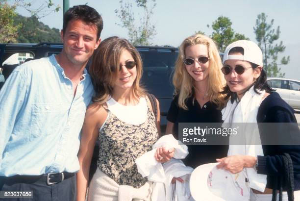 Actors Matthew Perry Jennifer Aniston Lisa Kudrow and Courtney Cox attend the Sixth Annual 'A Time for Heroes' Celebrity Carnival to Benefit the...