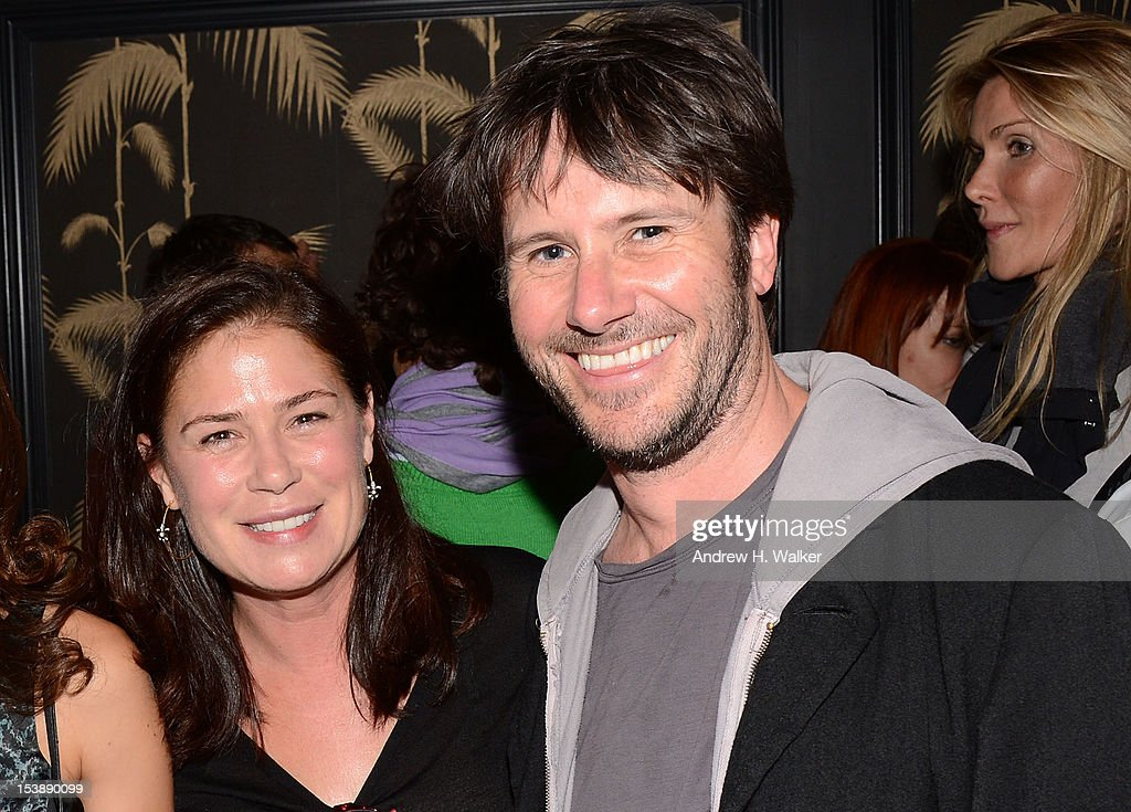 Actors <a gi-track='captionPersonalityLinkClicked' href=/galleries/search?phrase=Maura+Tierney&family=editorial&specificpeople=228416 ng-click='$event.stopPropagation()'>Maura Tierney</a> and Josh Hamilton attend The Cinema Society and CBS Films screening of 'Seven Psychopaths' After Party at No. 8 on October 10, 2012 in New York City.
