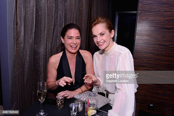 Actors Maura Tierney and Ruth Wilson attend the premiere of SHOWTIME drama 'The Affair' held at North River Lobster Company on October 6 2014 in New...