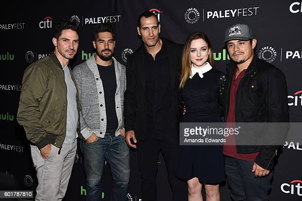 Actors Maurice Compte DJ Cotrona Marko Zaror Madison Davenport and Jesse Garcia arrive at The Paley Center for Media's PaleyFest 2016 Fall TV Preview...