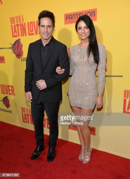 Actors Mauricio Ochmann and Aislinn Derbez attend the premiere of Pantelion Films' 'How To Be A Latin Lover' at ArcLight Cinemas Cinerama Dome on...