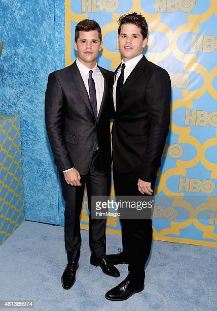 Actors Max and Charlie Carver attend HBO's Official Golden Globe Awards After Party at The Beverly Hilton Hotel on January 11 2015 in Beverly Hills...