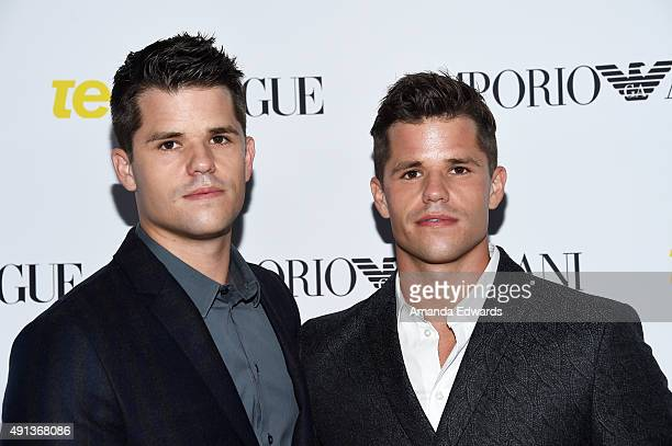 Actors Max Carver and Charlie Carver arrive at Teen Vogue's 13th Annual Young Hollywood Issue Launch Party on October 2 2015 in Los Angeles California