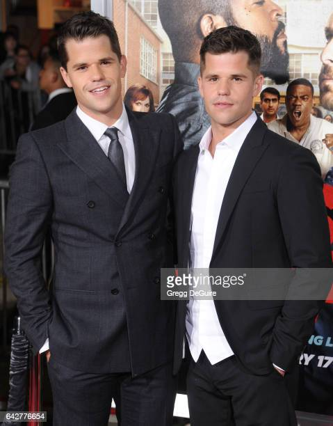 Actors Max Carver and Charlie Carver arrive at the premiere of Warner Bros Pictures' 'Fist Fight' at Regency Village Theatre on February 13 2017 in...