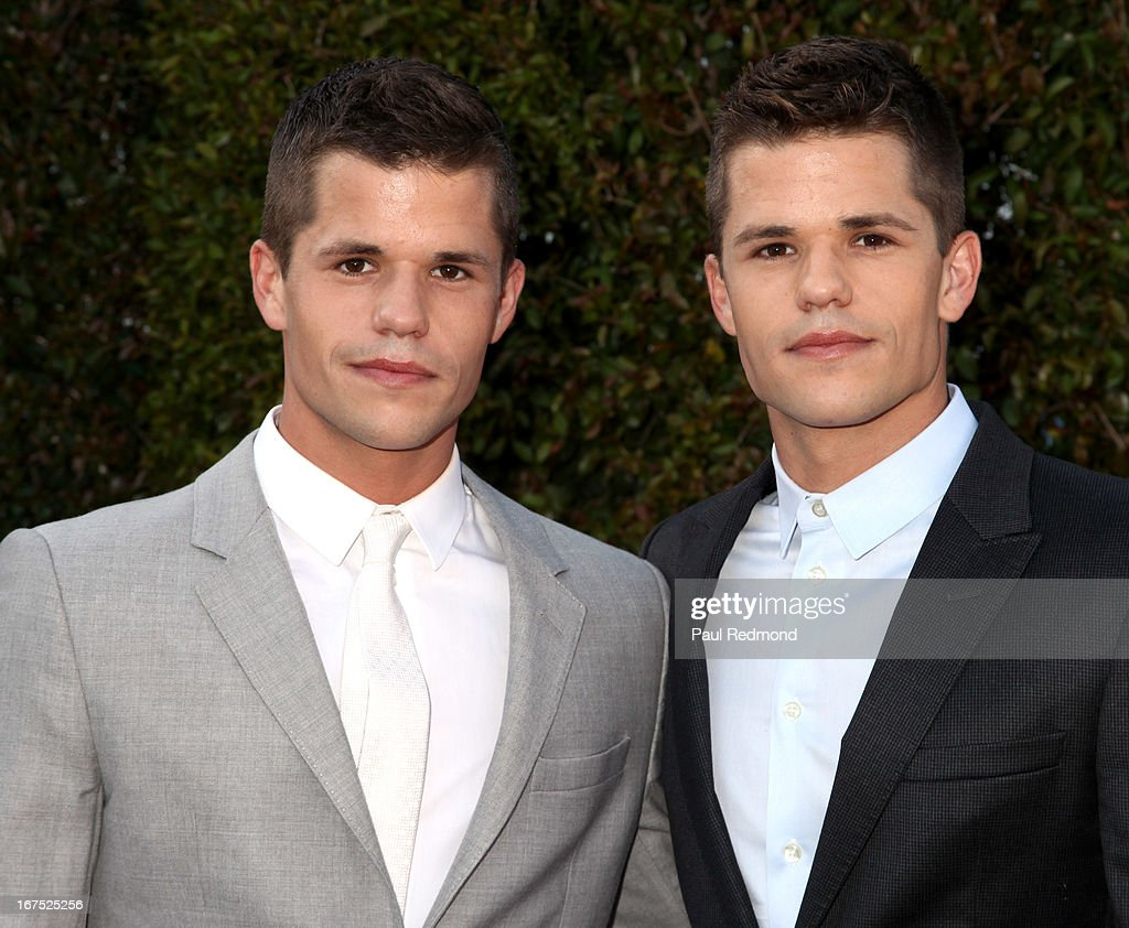 Actors Max Carver and Charlie Carver arrives at the Armani party during Paris Photo LA - Opening Night at Paramount Studios on April 25, 2013 in Hollywood, California.