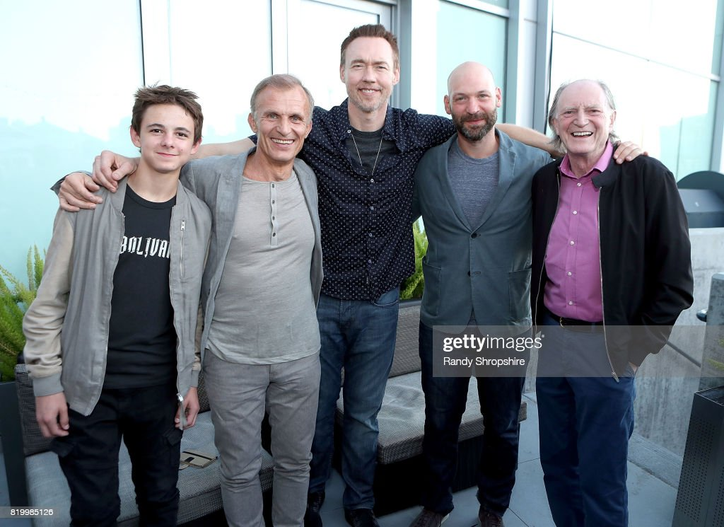 Actors Max Charles, Richard Sammel, Kevin Durand, Corey Stoll and David Bradley attend the Entertainment Weekly and FX After Dark event at the EW Studio during Comic-Con at Hard Rock Hotel San Diego on July 20, 2017 in San Diego, California.