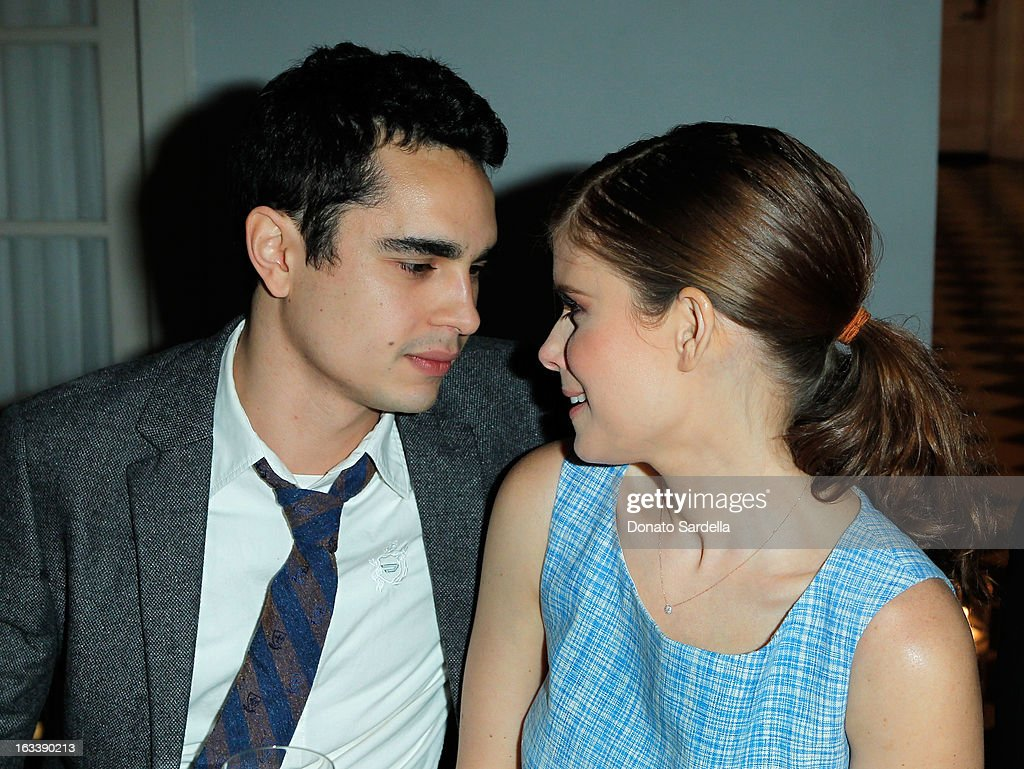 Actors Max Minghella and Kate Mara attend Joe Fresh private dinner hosted by Joe Mimran and Kate Mara at The Chateau Marmont on March 8, 2013 in Los Angeles, California.