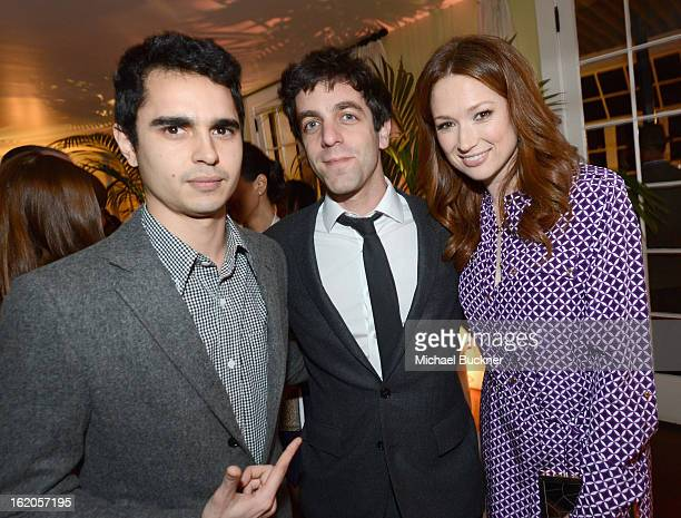 "Actors Max Minghella BJ Novak and Ellie Kemper wearing Juicy Couture attend Vanity Fair and Juicy Couture's Celebration of the 2013 ""Vanities""..."