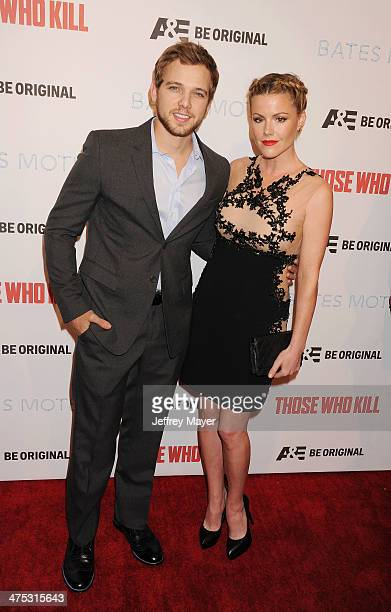 Actors Max Thieriot and Kathleen Robertson arrive at the premiere party for AE's Season 2 of 'Bates Motel' and the series premiere of 'Those Who...
