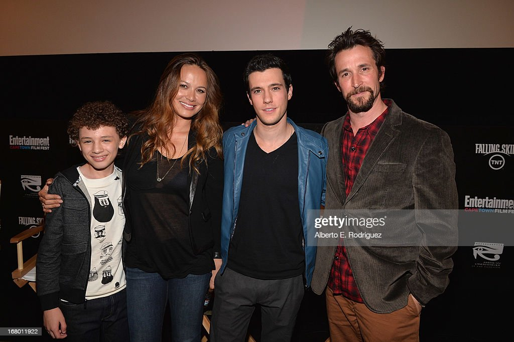 Actors Maxim Knight Moon Bloodgood Drew Roy and Noah Wyle attend Entertainment Weekly's CapeTown Film Festival presented by The American Cinematheque...
