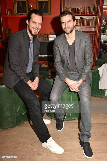 Actors Maximilien Seweryn and Gregory Fitoussi attend the Cocoche Restaurant Dinner Party during the'Cinema Et Musique De Film 2016' 3rd Festival At...