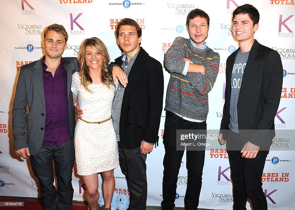 Actors Maxwell Jones, Joel Semande and guests arrive for the 5th Annual Babes In Toyland Charity Toy Drive to benefit Los Angeles County Sheriff's Department Toy Drive held at Confidential on December 1, 2012 in Beverly Hills, California.