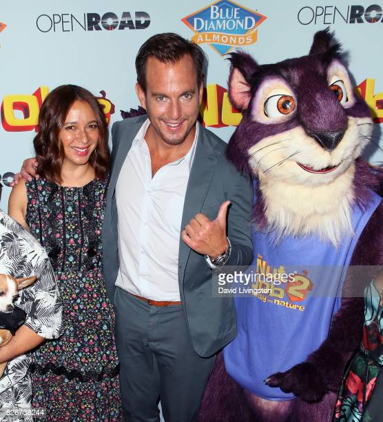 Actors Maya Rudolph and Will Arnett attend the premiere of Open Road Films' 'The Nut Job 2 Nutty by Nature' at Regal Cinemas LA Live on August 5 2017...
