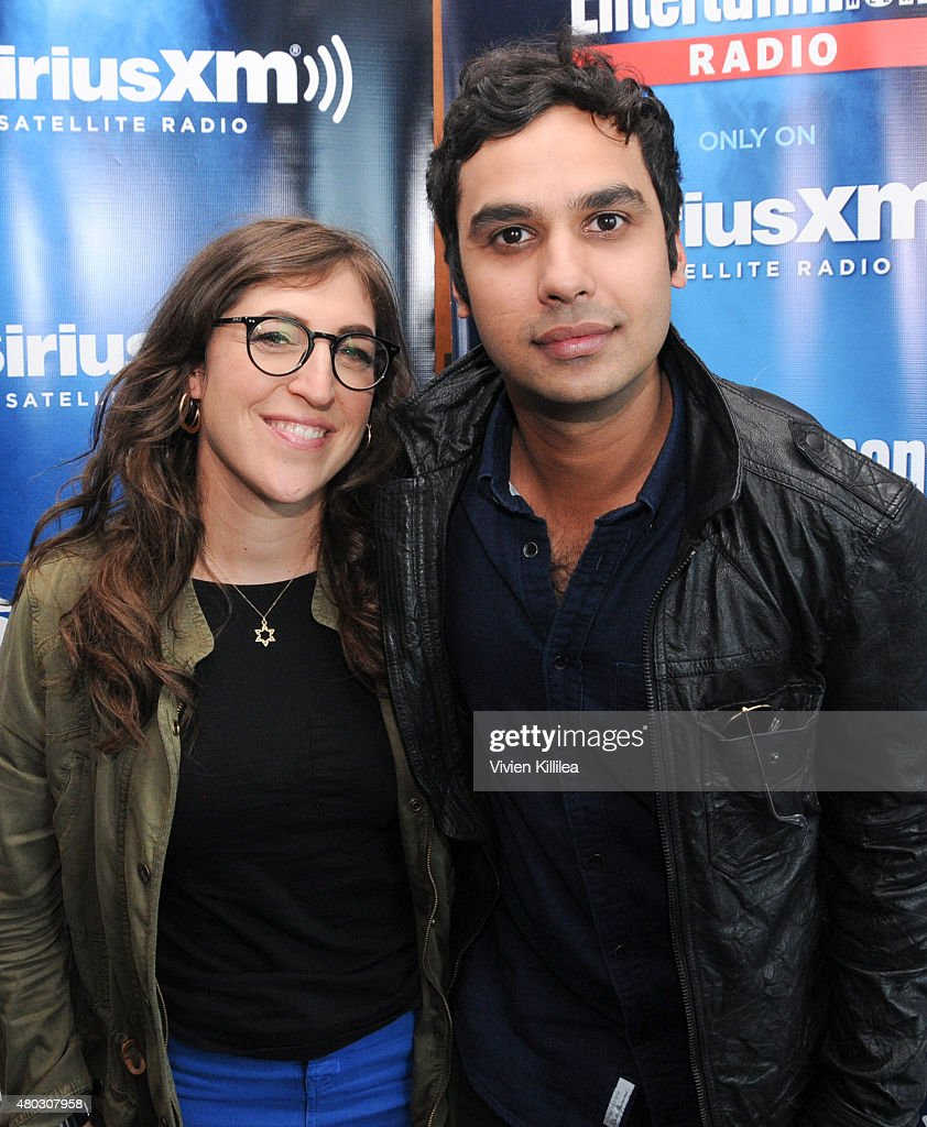 Actors Mayim Bialik and Kunal Nayyar attend SiriusXM's Entertainment Weekly Radio Channel Broadcasts From Comic-Con 2015 at Hard Rock Hotel San Diego on July 10, 2015 in San Diego, California.