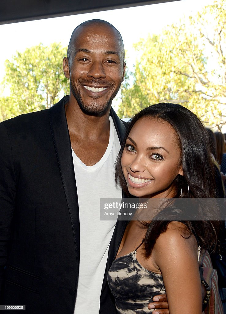 Actors McKinley Freeman (L) and <a gi-track='captionPersonalityLinkClicked' href=/galleries/search?phrase=Logan+Browning&family=editorial&specificpeople=4428135 ng-click='$event.stopPropagation()'>Logan Browning</a> attend VH1's 'Hit The Floor' screening at Tiato on May 28, 2013 in Santa Monica, California. V_HTF_05_26_13_0220.JPG