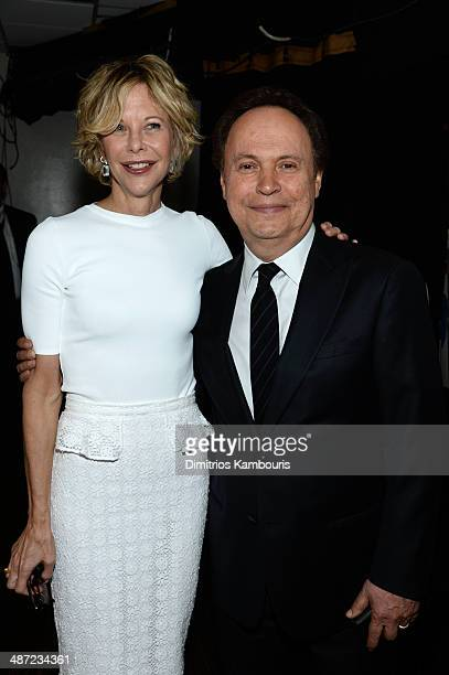 Actors Meg Ryan and Billy Crystal attend the 41st Annual Chaplin Award Gala at Avery Fisher Hall at Lincoln Center for the Performing Arts on April...