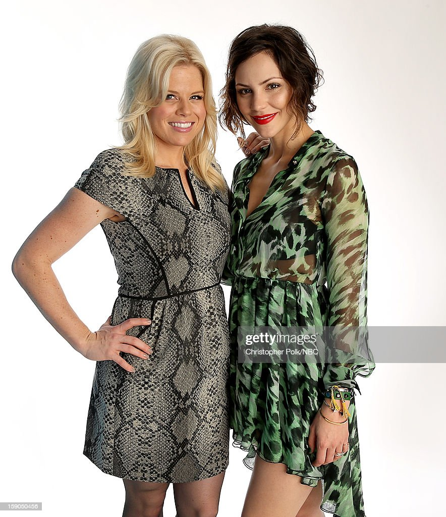 Actors Megan Hilty and Katharine McPhee attend the NBCUniversal 2013 TCA Winter Press Tour at The Langham Huntington Hotel and Spa on January 6, 2013 in Pasadena, California.