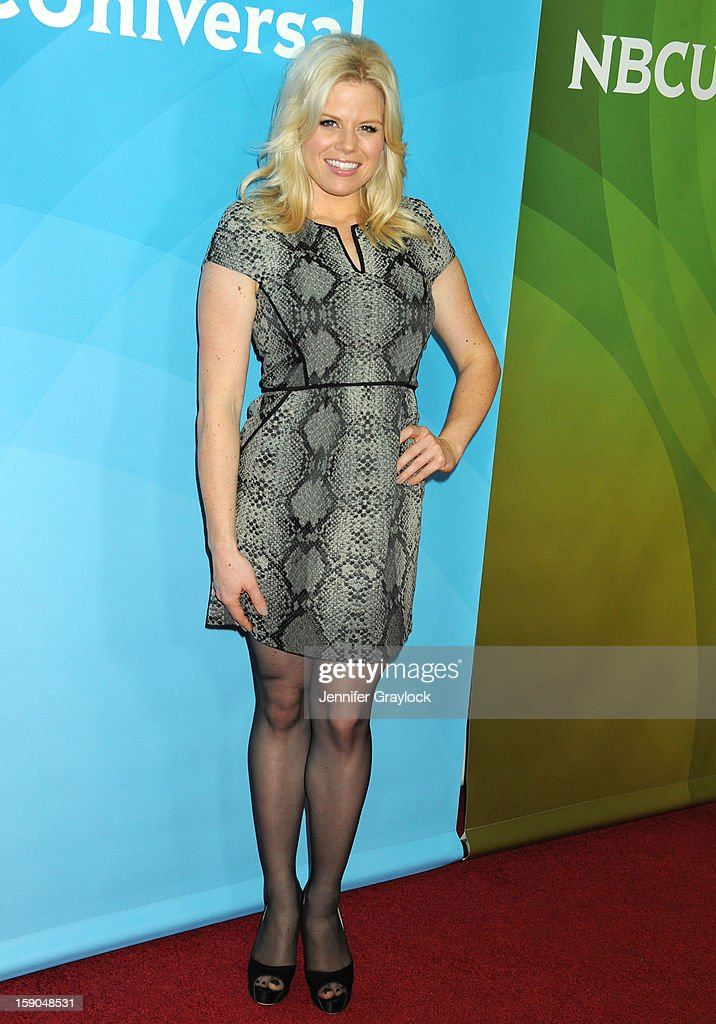 Actors Megan Hilty attends the NBC Winter TCA Press Tour held at the Langham Huntington Hotel and Spa on January 6, 2013 in Pasadena, California.