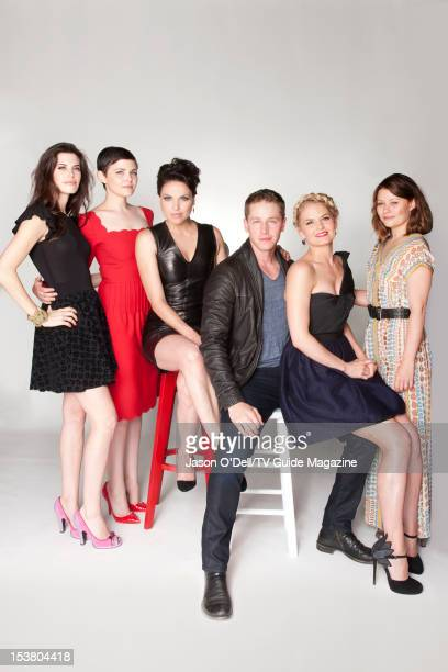 Actors Meghan Ory Ginnifer Goodwin Lana Parrilla Josh Dallas Jennifer Morrison and Emilie deRavin are photographed for TV Guide Magazine on July 14...