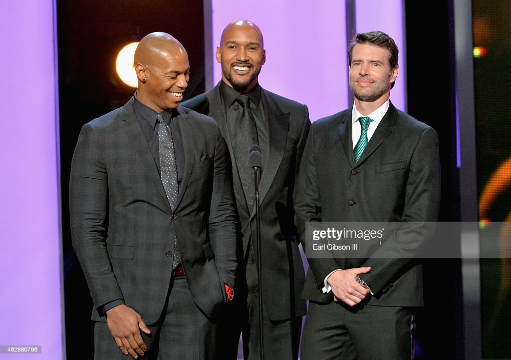 Actors Mehcad Brooks Henry Simmons and Scott Foley speak onstage at the 46th Annual NAACP Image Awards on February 6 2015 in Pasadena California