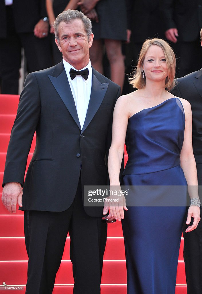 Actors Mel Gibson and Jodie Foster attend 'The Beaver' Premiere during the 64th Cannes Film Festival at the Palais des Festivals on May 17 2011 in...