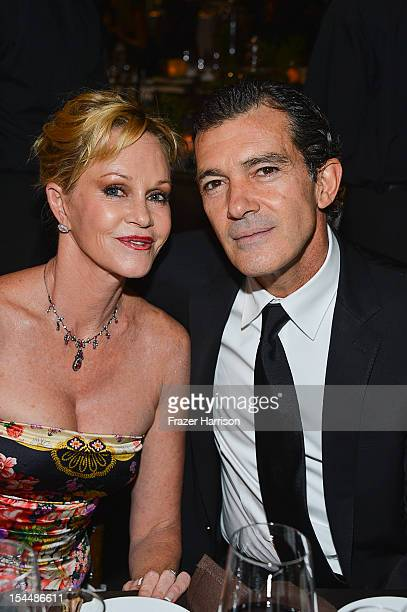 Actors Melanie Griffith and Antonio Banderas attend the Children's Hospital Los Angeles Gala Noche de Ninos at LA Live Event Deck on October 20 2012...