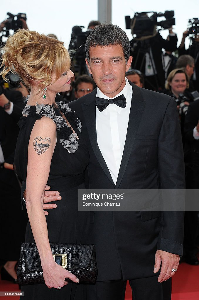 Actors Melanie Griffith and Antonio Banderas attend the Opening Ceremony and 'Midnight In Paris' Premiere at the Palais des Festivals during the 64th Cannes Film Festival on May 11, 2011 in Cannes, France.