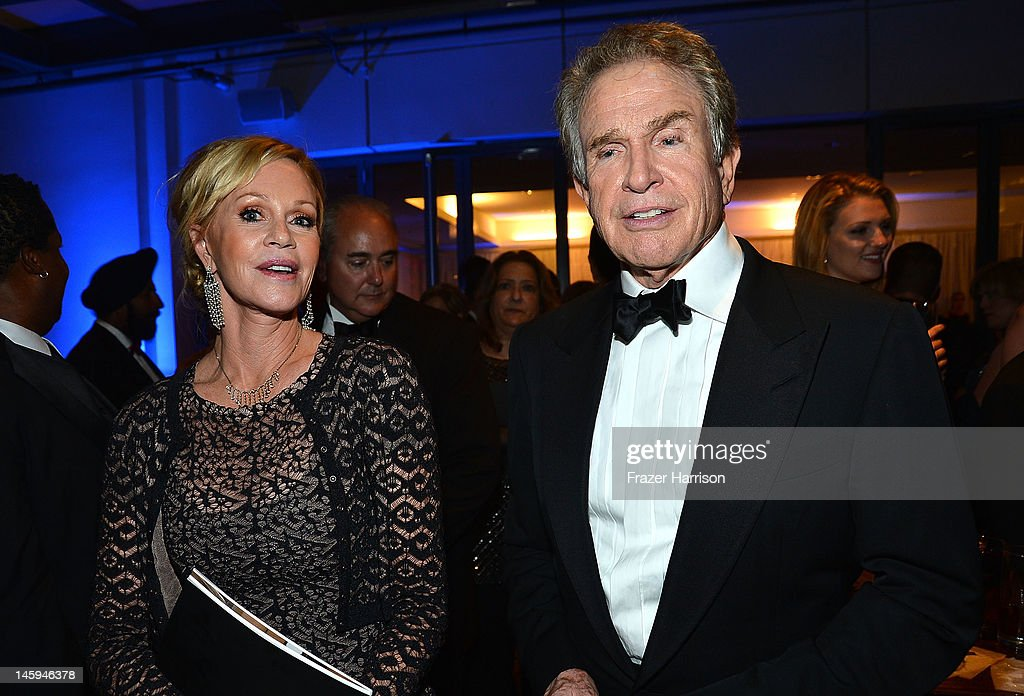 Actors <a gi-track='captionPersonalityLinkClicked' href=/galleries/search?phrase=Melanie+Griffith&family=editorial&specificpeople=171682 ng-click='$event.stopPropagation()'>Melanie Griffith</a> and <a gi-track='captionPersonalityLinkClicked' href=/galleries/search?phrase=Warren+Beatty&family=editorial&specificpeople=201478 ng-click='$event.stopPropagation()'>Warren Beatty</a> attend the after party for the 40th AFI Life Achievement Award honoring Shirley MacLaine held at Sony Pictures Studios on June 7, 2012 in Culver City, California. The AFI Life Achievement Award tribute to Shirley MacLaine will premiere on TV Land on Saturday, June 24 at 9PM