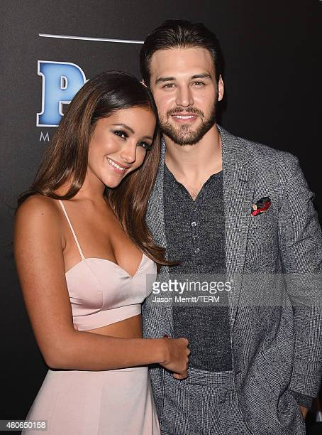 Actors Melanie Iglesias and Ryan Guzman attend the PEOPLE Magazine Awards at The Beverly Hilton Hotel on December 18 2014 in Beverly Hills California