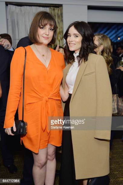 Actors Melanie Lynskey and Abigail Spencer attend Vanity Fair and Lancome Toast to The Hollywood Issue at Chateau Marmont on February 23 2017 in Los...
