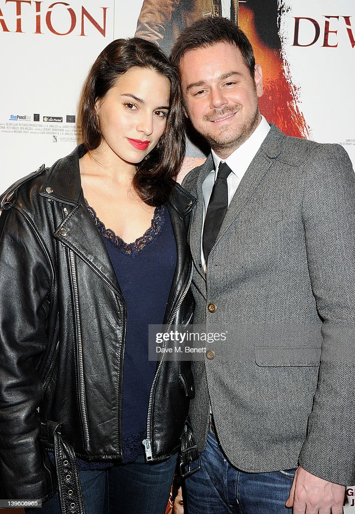 Actors Melia Kreiling (L) and Danny Dyer attend the World Premiere of 'Deviation' at Odeon Covent Garden on February 23, 2012 in London, England.