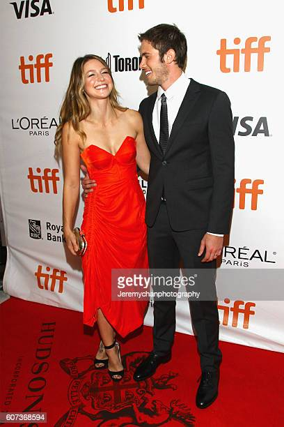 Actors Melissa Benoist and Blake Jenner attend the 'The Edge of Seventeen' premiere held at Roy Thomson Hall during the Toronto International Film...