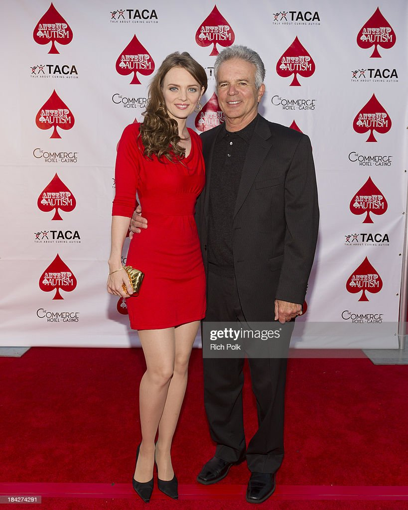 Actors Melissa Biethan and Tony Denison arrive at the 7th Annual Ante Up For Autism Event At The St. Regis Monarch Beach Resort on October 12, 2013 in Dana Point, California.