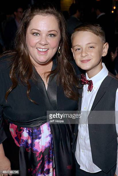 Actors Melissa McCarthy and Jaeden Lieberher attend the 'St Vincent' premiere during the 2014 Toronto International Film Festival at Patria on...