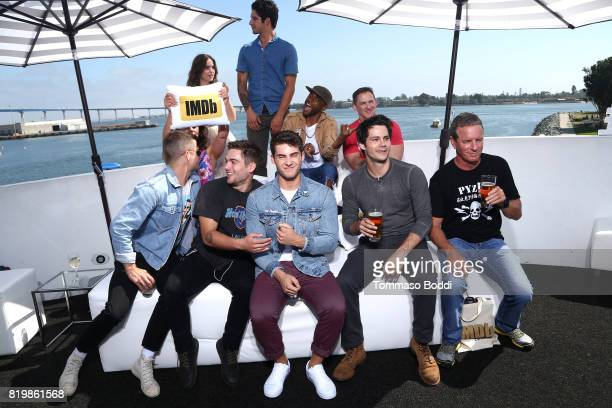 Actors Melissa Ponzio Shelly Hennig Charlie Carver Dylan Sprayberry Tyler Posey Cody Christian Khylin Rhambo Dylan O'Brien and Linden Ashby at the...