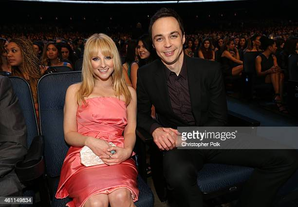 Actors Melissa Rauch and Jim Parsons attend The 41st Annual People's Choice Awards at Nokia Theatre LA Live on January 7 2015 in Los Angeles...